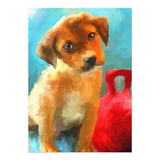 Play With Me (puppy) 5x7 Mini Prints Invites