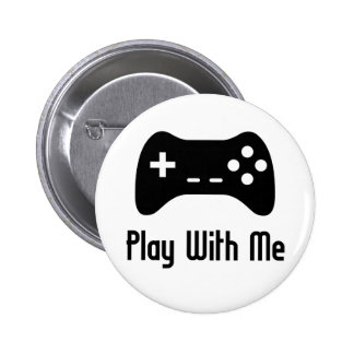Play With Me Video Game 6 Cm Round Badge