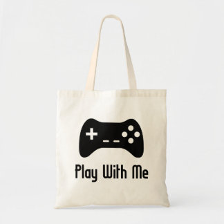 Play With Me Video Game Budget Tote Bag