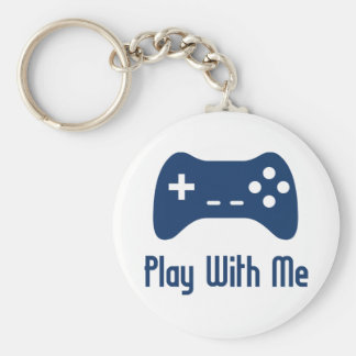 Play With Me Video Game Key Ring