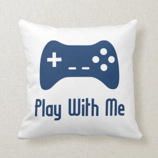 Play With Me Video Game Throw Pillow