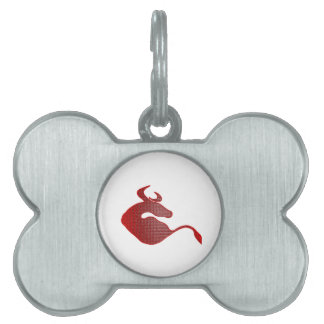 Play with the Bull Pet ID Tag
