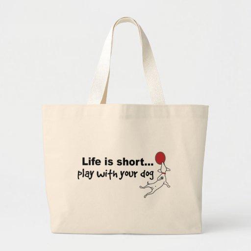 Play with Your Dog Jumbo Tote Bag