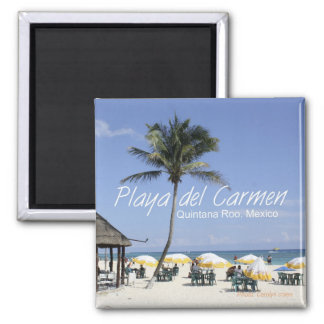 Playa del Carmen Mexico Beach Travel Fridge Magnet
