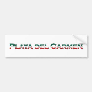 Playa del Carmen (text logo) Bumper Sticker