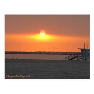 Playa del Rey Sunset - Mike Izzo Postcard