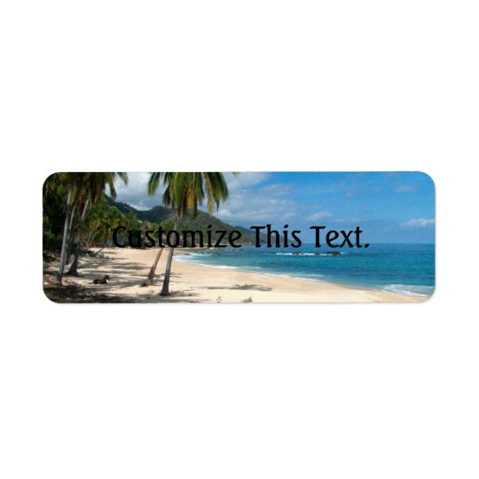 Playa Los Caballos Blue Return Address Label