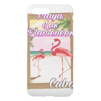 Playa Los Flamencos Cuba travel poster iPhone 7 Plus Case