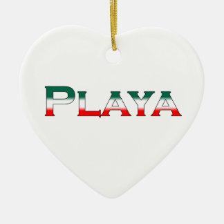 Playa (Playa del Carmen) Ceramic Ornament