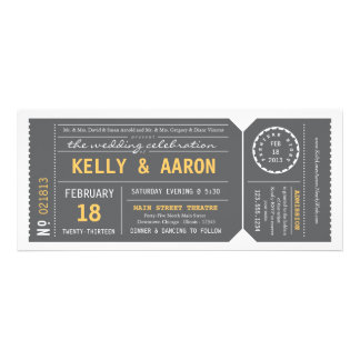 Playbill Theater Ticket Wedding Invitation - Gray