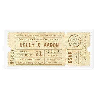 Playbill Vintage Theater Ticket Wedding Invitation