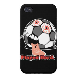 played hard funny deflated soccer ball sports iPhone 4 covers