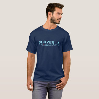 Player 1 Dark T-Shirt, Navy T-Shirt