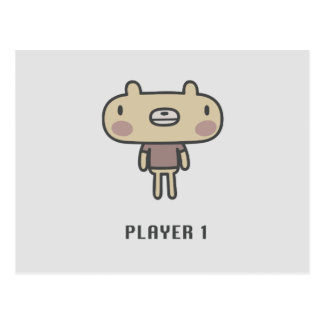 Player 1 postcard