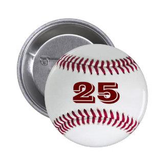Player 25 Baseball Button