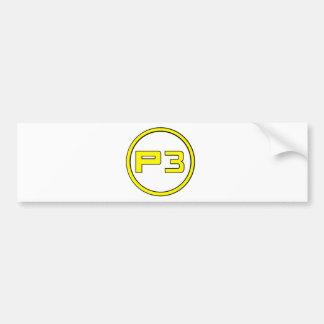 Player 3 bumper sticker