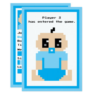 Player 3 Entered The Game Baby Boy Announcement