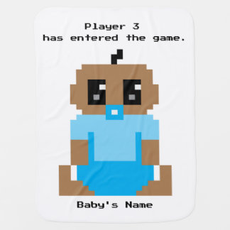 Player 3 Has Entered Game Ethnic Baby Boy Blanket