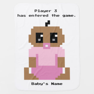 Player 3 Has Entered Game Ethnic Baby Girl Blanket