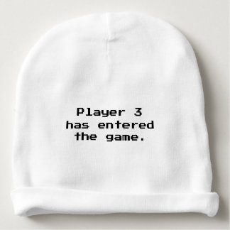 Player 3 Has Entered The Game Funny Baby Beanie