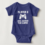Player 3 has joined the Game funny baby Tshirt