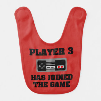 Player 3 has Joined the Game funny new baby bib