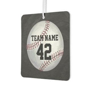 Player and Number Baseball Car Air Freshener