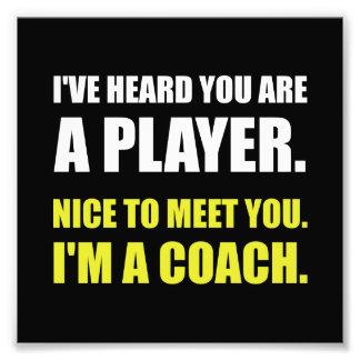 Player Coach Photo Print