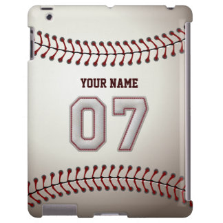 Player Number 07 - Cool Baseball Stitches Look