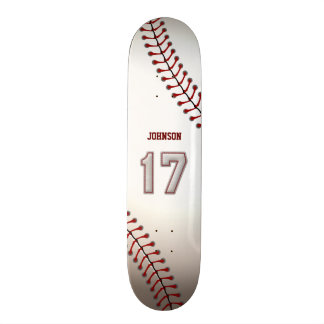Player Number 17 - Cool Baseball Stitches Skateboard Decks