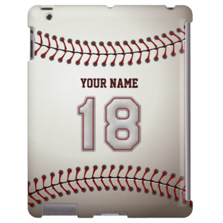 Player Number 18 - Cool Baseball Stitches Look