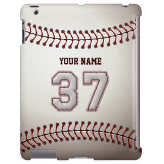 Player Number 37 - Cool Baseball Stitches Look