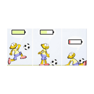 Player of soccer with the loaded batteries canvas print