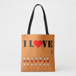 Player Positions I Love Netball Tote Bag