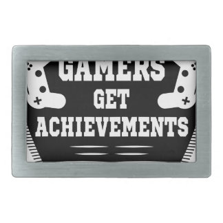 Players get chicks gamers get achivements belt buckle