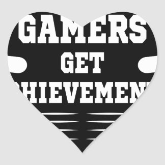 Players get chicks gamers get achivements heart sticker