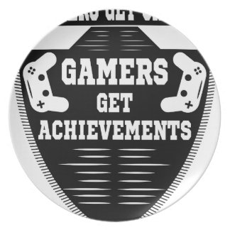 Players get chicks gamers get achivements plate
