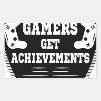 Players get chicks gamers get achivements rectangular sticker