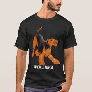 Playful Airedale Terrier T-Shirt