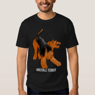 Playful Airedale Terrier Tshirt