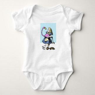 Playful Alice in Wonderland. Classic book art Baby Bodysuit