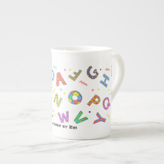 Playful Alphabet Bone China Mug
