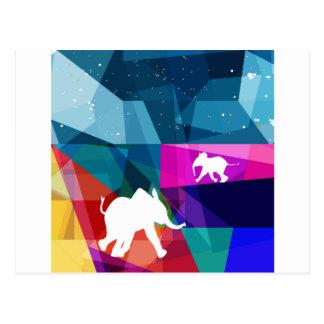 Playful baby elephant postcard