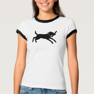 Playful Black Lab T-shirts