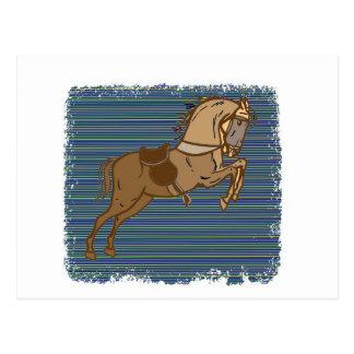PLAYFUL Brown HORSE Sketch Postcard