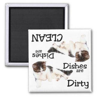 Playful Cat Dishwasher Magnet