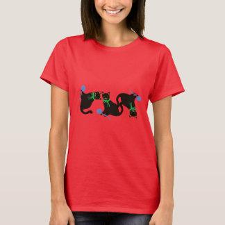 Playful Cat Pattern T-Shirt