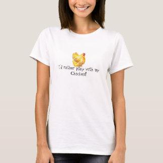 playful chicken t shirt