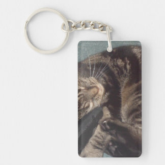 Playful Dave Rectangle (double-sided) Keychain