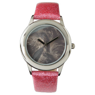 Playful Dave Watch with Pink Strap